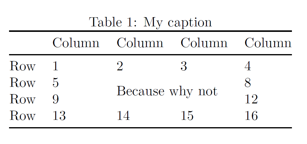 Latex tables: column widths and alignments